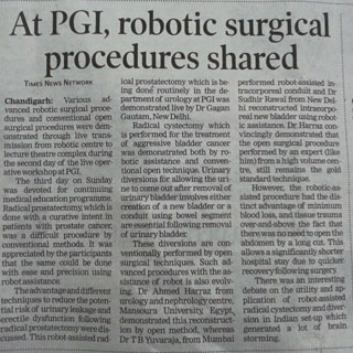 AT PGI, ROBOTIC SURGICAL PROCEDURES SHARED
