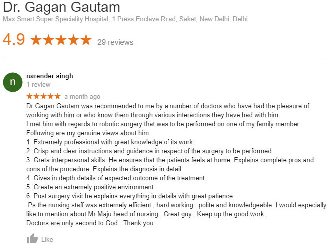 Dr Gagan Gautam Reviews